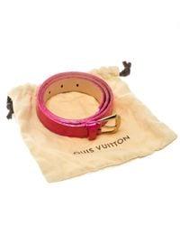 Louis Vuitton Pink Lackleder Gürtel