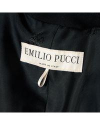 Emilio Pucci Black Wool
