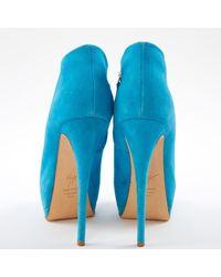 Giuseppe Zanotti Blue Opentoes Stiefel