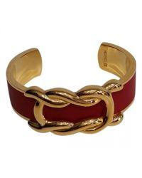 Hermès - Red Leather Bracelet - Lyst