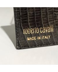 Roberto Cavalli Black \n Other Exotic Leathers Purse Wallet & Case