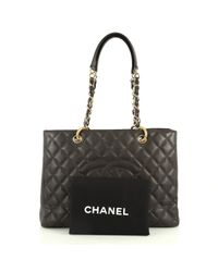 Chanel Brown Grand Shopping Leder Handtaschen
