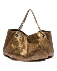 Carolina Herrera Metallic Leder Handtaschen
