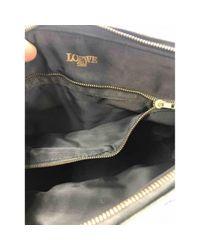 Loewe Black Aligator Baguette tasche