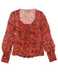 Top \N en Soie Multicolore Diane von Furstenberg en coloris Red