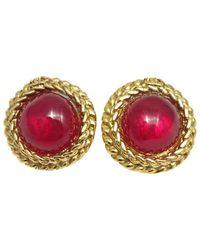 Chanel - Red Earrings - Lyst
