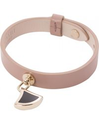 BVLGARI - Pink Pre-owned Diva's Dream Leather Bracelet - Lyst