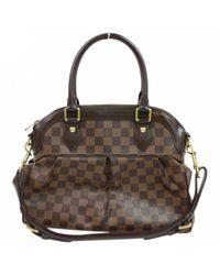 Louis Vuitton Brown Leinen Aktentaschen