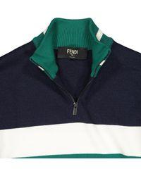 Pull en laine Fendi pour homme en coloris Blue