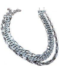 Hermès Metallic Silver Necklace