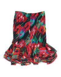 Falda en seda multicolor Jason Wu de color Red