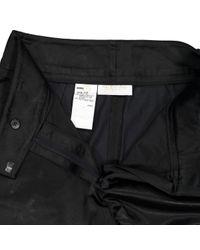 Pantaloni in cotone nero di Valentino in Black