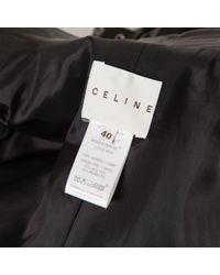 Céline Black Leder Blouson