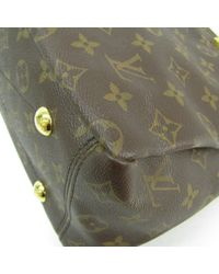 Louis Vuitton Brown Pallas Leinen Handtaschen