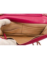 Bolsa de mano en cuero rojo Wallet on Chain Chanel de color Red