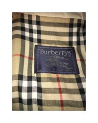 Burberry Natural Beige Synthetic Coat for men