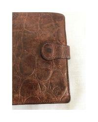 Mulberry Brown Leder Portemonnaie