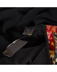 Vestido en viscosa multicolor \N Fendi de color Black