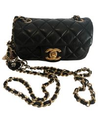 Chanel Black Timeless/classique Leder Cross Body Tashe