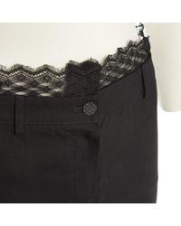 Chanel Black Wolle Halblang Rock