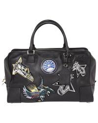 Loewe Black Leather Handbag