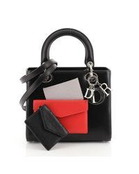 Borsa a mano in pelle nero di Dior in Black