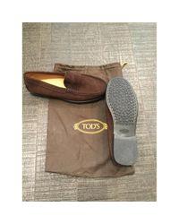 Mocasines en cuero marrón \N Tod's de color Brown