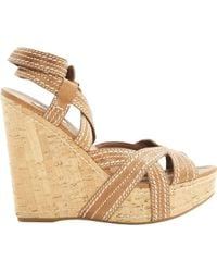 Miu Miu \n Brown Leather Sandals