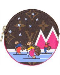 Louis Vuitton Multicolor Leinen Portemonnaie