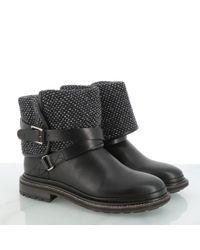 Botines en cuero negro Chanel de color Black