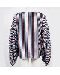 Camisa en algodón multicolor Caroline Constas de color Blue