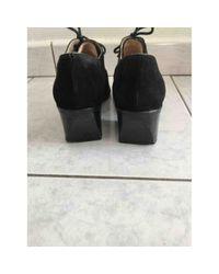 Chanel Black Schnürschuhe