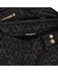 Pantalon de tailleur Balmain en coloris Black