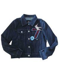 Miu Miu Blue Pre-owned Biker Jacket for men