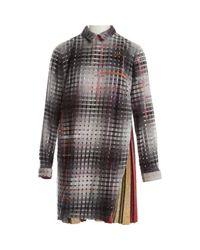 Marco De Vincenzo Gray Wolle Midi Kleid