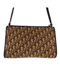 Bolsa de mano en lona marrón Dior de color Brown
