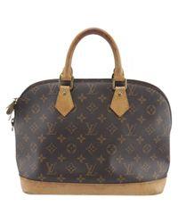 Louis Vuitton Black Alma Leinen Handtaschen