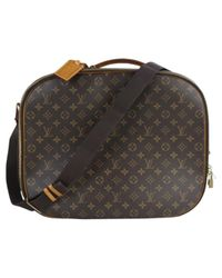 Louis Vuitton Black Leinen 48 Std/ Tasche