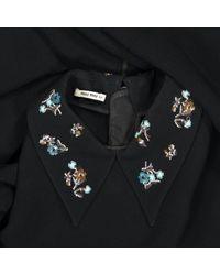 Robe \N en Synthétique Noir Miu Miu en coloris Black