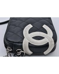 Chanel Black Cambon Leder Handtaschen