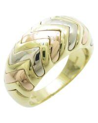 BVLGARI - Yellow Gold Ring - Lyst