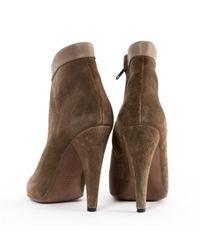 Stivali in scamosciato kaki di Isabel Marant in Brown