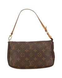 Louis Vuitton Brown Pochette Accessoire Leinen Handtaschen