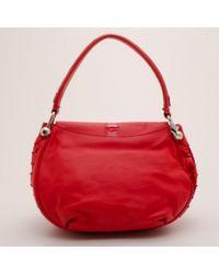 Versace Red Leder Handtaschen