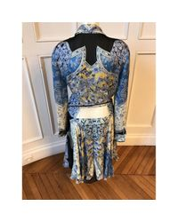 Roberto Cavalli \n Blue Silk Dress