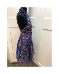 Matthew Williamson Purple Seide Mini Kleid