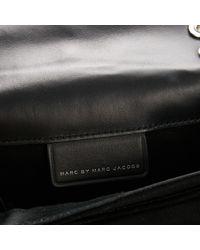 Borsa a mano in scamosciato nero di Marc By Marc Jacobs in Black