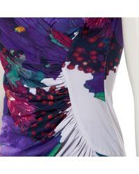 Roberto Cavalli Purple \n Multicolour Synthetic Dress