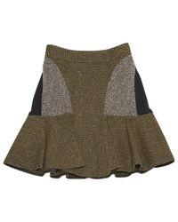 Stella McCartney Multicolor Wool Mini Skirt