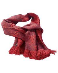 Pañuelos en lana rojo Logomania Louis Vuitton de color Red